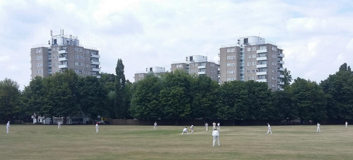 Hassan Khan and Hermant Patel on their way to 50 run partnership.
